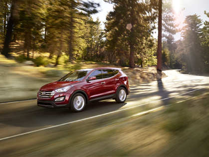 2013 Hyundai Santa Fe... goes almost anywhere.